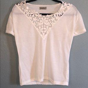 NWOT lace v-neck T-shirt